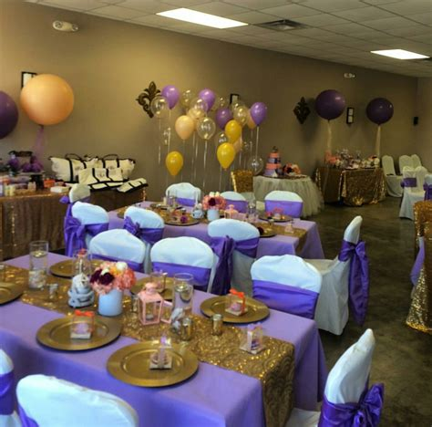 purple gold decorations royal purple and gold baby shower princess elise