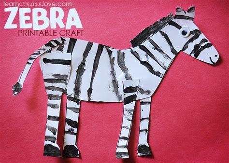 zebra craft for printable zebra craft