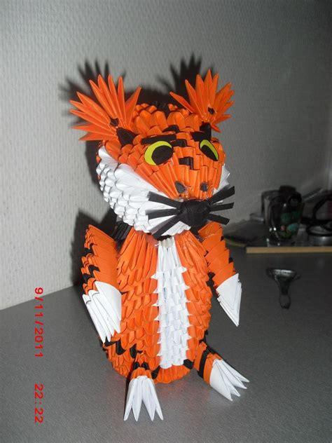 3d origami tiger 3d origami tiger by nightpotter on deviantart