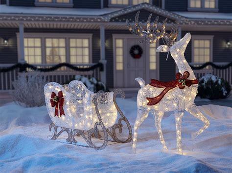 outdoor decorations santa and reindeer outdoor reindeer decorations rberrylaw