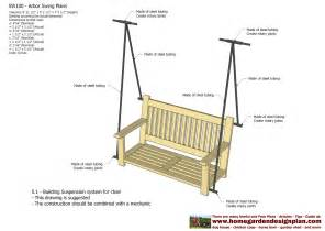 arbor swing plans free home garden plans sw100 arbor swing plans swing