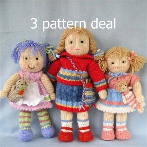 free patterns for knitted dolls lavender tilly and lulu 3 pattern deal doll