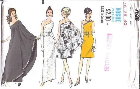One Shoulder Dress Pattern Vogue