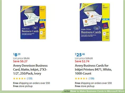 how to make business cards on microsoft word how to make business cards in microsoft word with pictures
