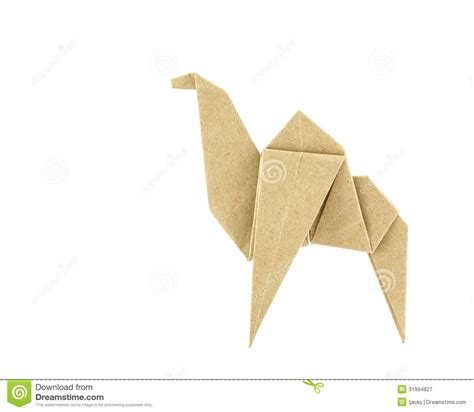 origami camel origami camel recycle paper royalty free stock photography