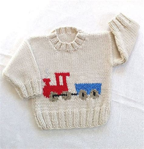 knitting motifs for babies and baby sweater with motif 6 to 12 months knitted