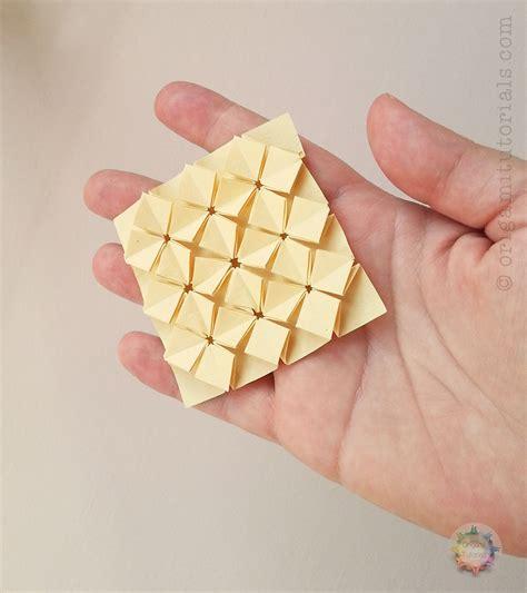 origami hydrangea origami miniature high density hydrangea tessellation