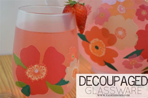 dishwasher safe decoupage easy fall decor decoupage on glass pitchers and