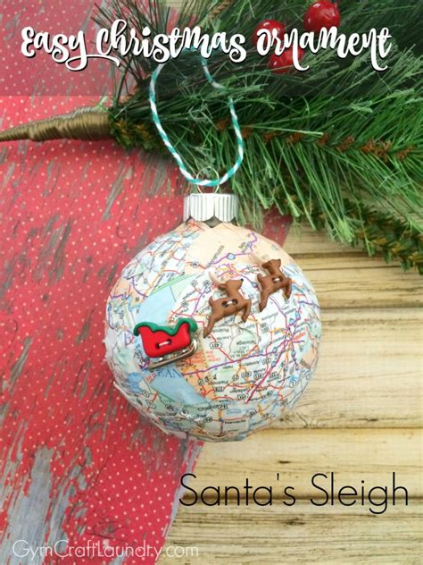photo ornaments to make easy decoupage santa s sleigh map ornament ornaments