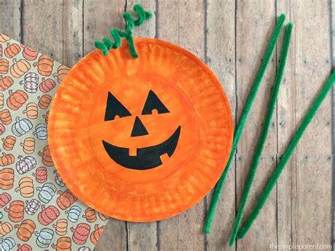 pumpkin crafts for easiest paper plate pumpkin craft