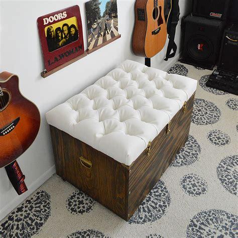 diy ottoman with storage diy tufted storage ottoman popsugar home
