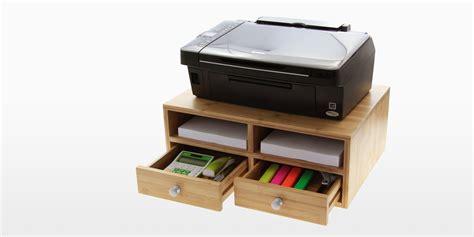 printer stand for desk desktop printer stand bamboo office furniture office