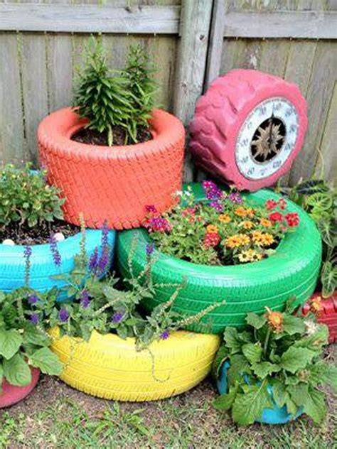 Garden Ornaments And Accessories Galleries Garden Decor Ideas With Car Rims And Tyres Upcycle