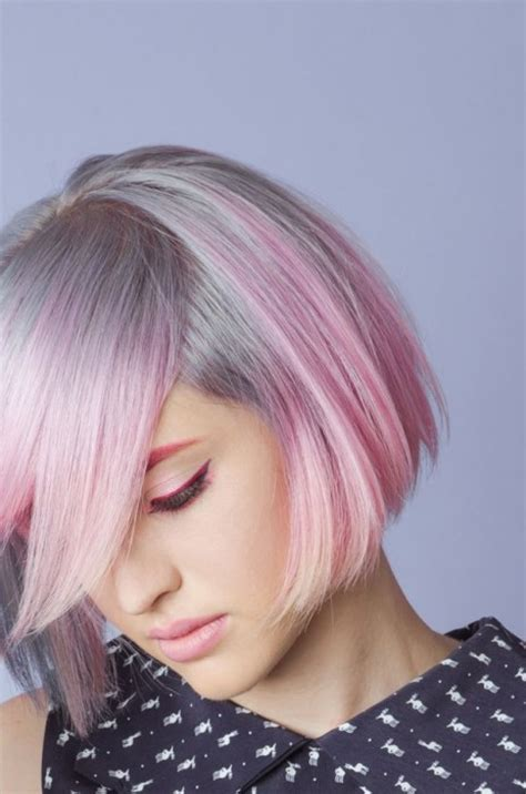 pictures of grey hairstyles with pink highlights 2017 hair highlights for grey hair new hair color ideas