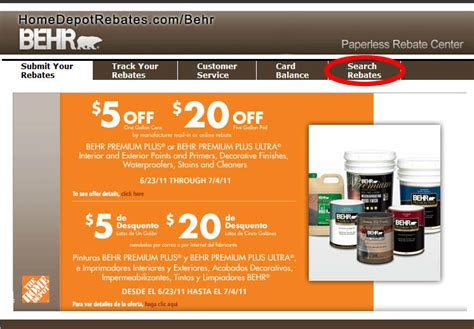 home depot paint rebate form homedepot on line rebates