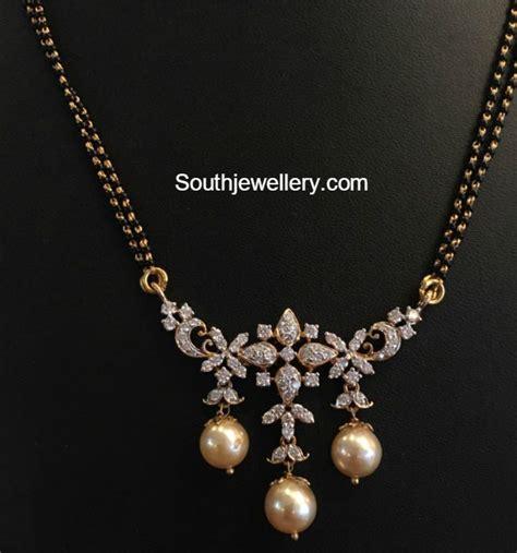 gold chain with black model nallapusalu chain models jewelry designs