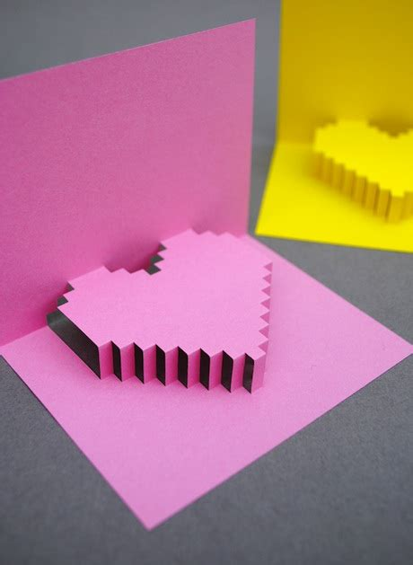 make 3d cards how to pixelated popup card make handmade