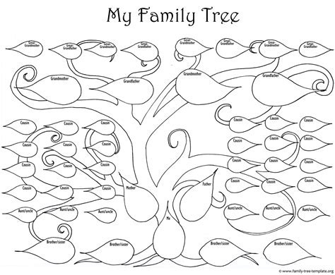 large tree template a printable blank family tree to make your genealogy