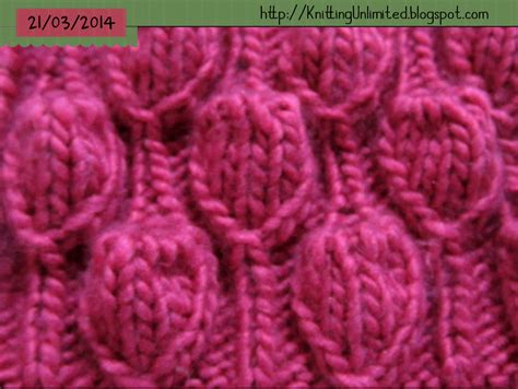 bobble stitch knit big bells and bell ropes knitting stitch knitting unlimited
