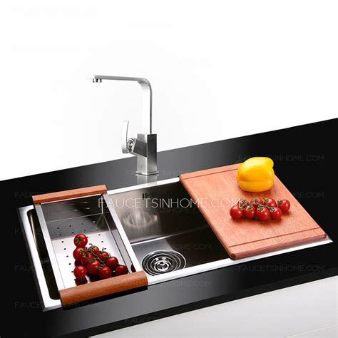 large kitchen sinks large capacity stainless steel single sink kitchen sinks
