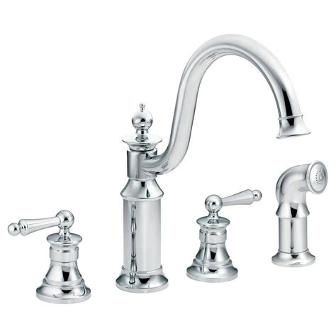 moen kitchen sink sprayer moen waterhill high arc 2 handle standard kitchen faucet