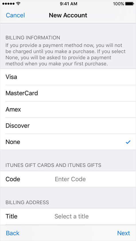 make store card payment create or use your apple id without a payment method