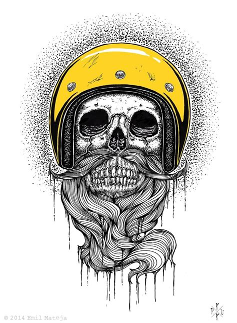 skull beard ematique beard artwork print beards bearded