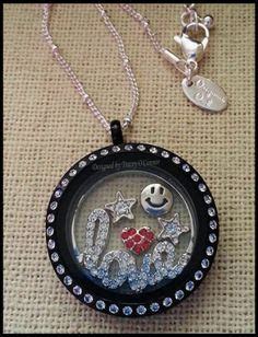 origami owl large silver locket with crystals origami owl in memory locket large chocolate with crystals