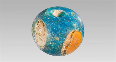 the glass bead ancient blue glass reached scandinavia
