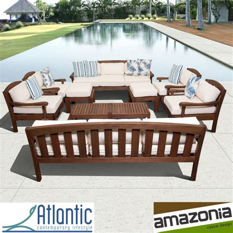 eucalyptus wood patio furniture 10 eucalyptus wood seating patio set
