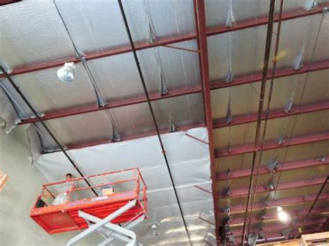 warehouse ceiling foil retroshield reflective insulation system fi foil company