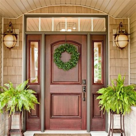 exterior door designs for home 27 cool front door designs with sidelights shelterness