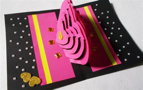 i want to make a card diy 3d kirigami card ideas how to make pop
