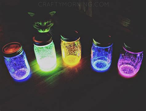 glow stick crafts for how to make glowing jars using glow sticks crafty morning