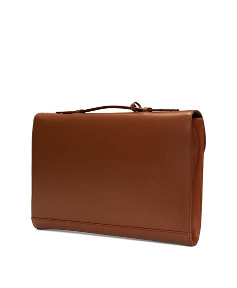 classic leather briefcase brothers classic leather briefcase in brown for cognac lyst