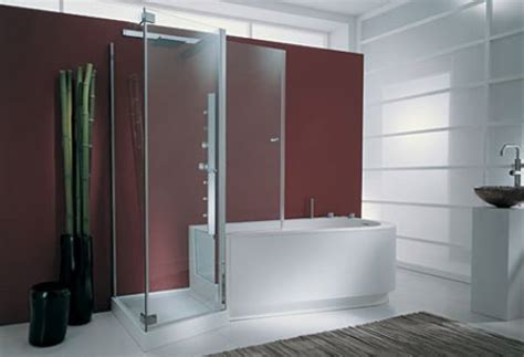 walk in shower bath combo a walk in tub shower combo for ease and comfort all my