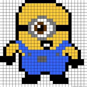 minion bead pattern minion perler bead pattern p 228 rlplattem 246 nster