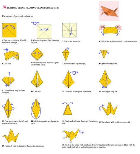 how to make origami flapping bird step by step hyperactive software airlaunch