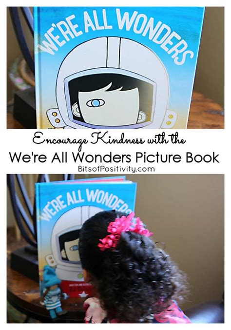 picture book without pictures encourage kindness with the we re all wonders picture book