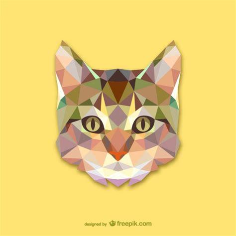 cat designs triangle cat design vector free