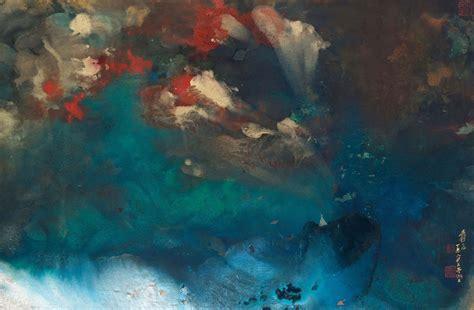 znag painting zhang daqian 1899 1983 contemplating upon an autumn
