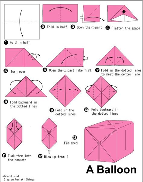 origami pdf free 25 best ideas about origami balloon on