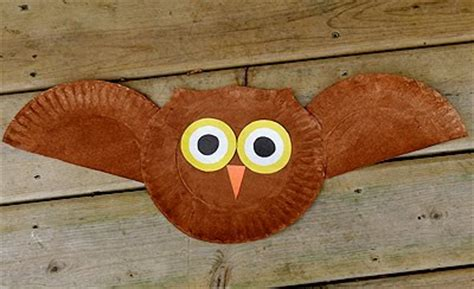 paper plate owl craft preschool crafts for flying owl paper plate craft