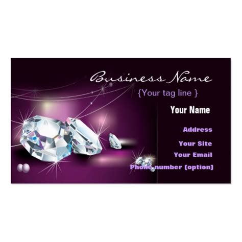 business cards for jewelry jewelry business card template zazzle
