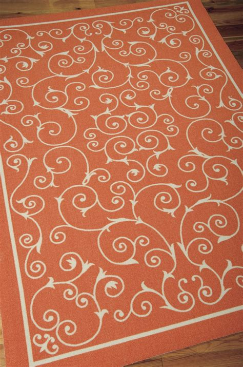 orange outdoor rugs home and garden rs19 orange outdoor rug by nourison