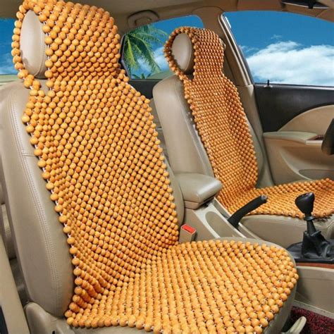 bead seat covers handmade design wooden bead car seat cover for summer