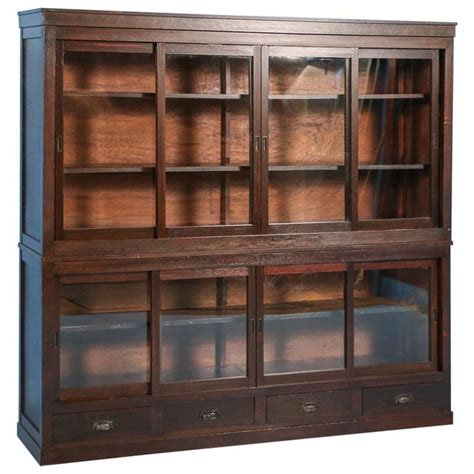 bookshelves with sliding doors antique japanese bookcase or cabinet with sliding glass