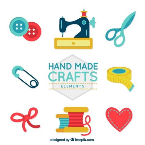 free crafts colored handicraft vectors photos and psd files free