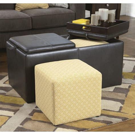 flip top storage ottoman furniture hodan faux leather flip top storage