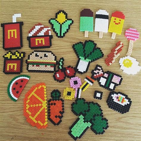 hama food food hama by simony43 patterns pixel ideas